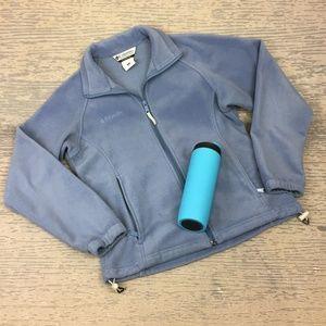 Like New Columbia blue fleece zip up